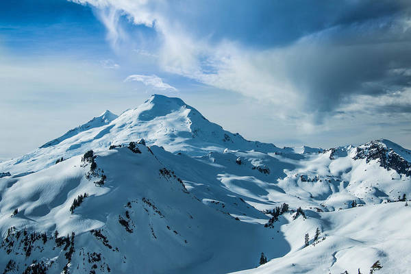 Snowshoe Photograph - Mt. Baker In Winter by Ryan McGinnis