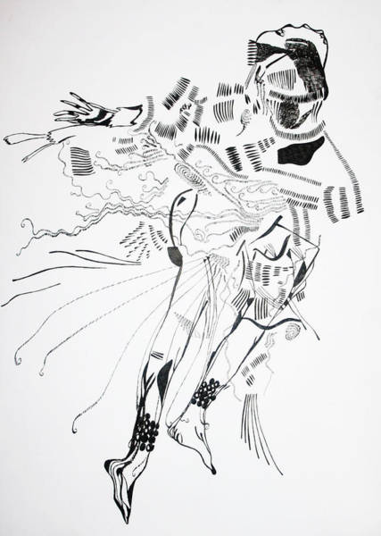 Traditional Dances Drawing - Bakiga Dance - Uganda by Gloria Ssali