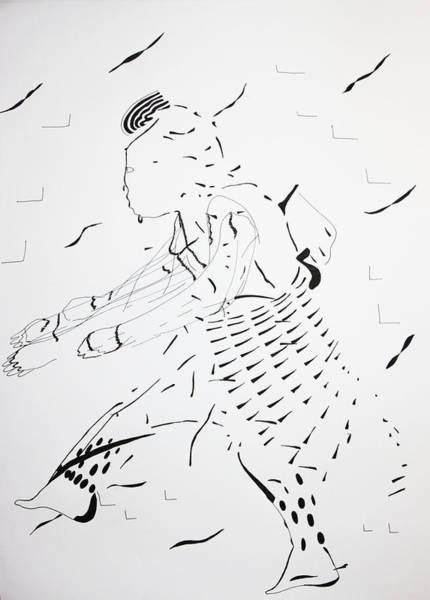 Drawing - Bakiga Dance - Ugandan Dance by Gloria Ssali