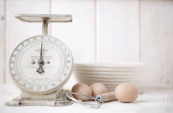 Recipe Photograph - Baking Time Vintage Kitchen Scale by Edward Fielding