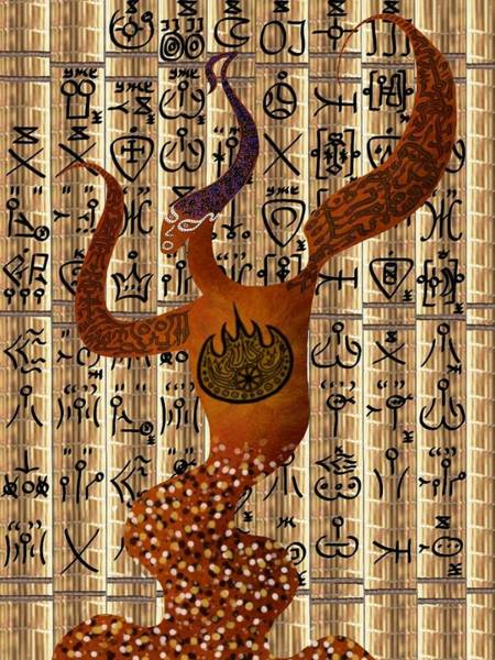 Tribal Dance Digital Art - Bakkheia by Michael Fitzpatrick