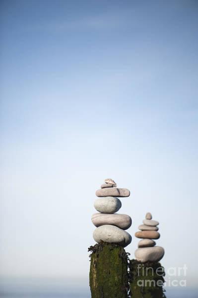 Bristol Channel Photograph - Balanced by Anne Gilbert