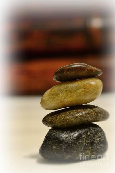 Balancing Rocks Photograph - Balanced by Paul Ward