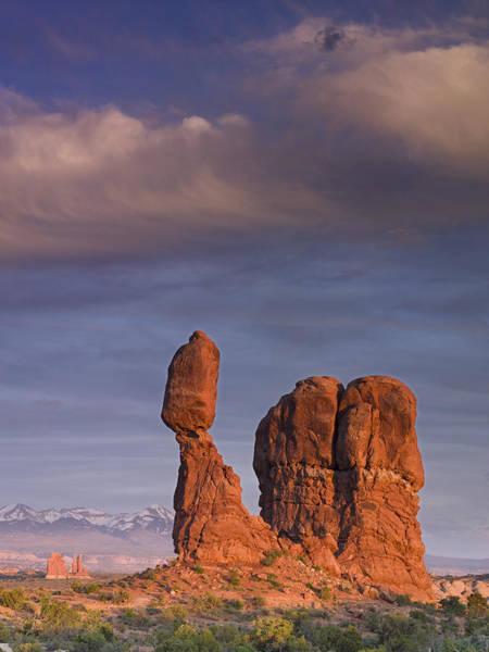 Balanced Rock At Sunset Art Print by Richard Berry