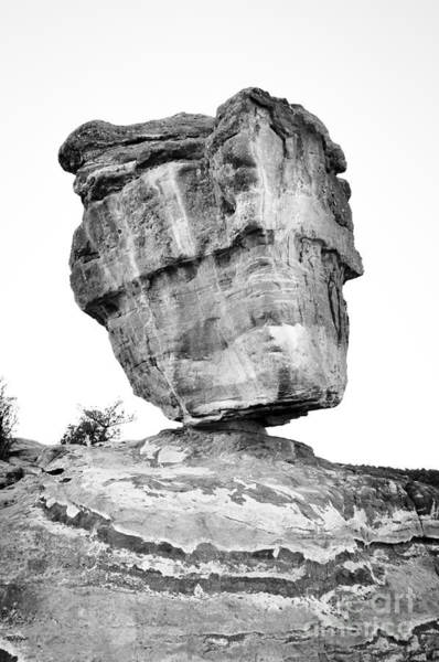 Photograph - Balanced Rock In Black And White by Cheryl McClure