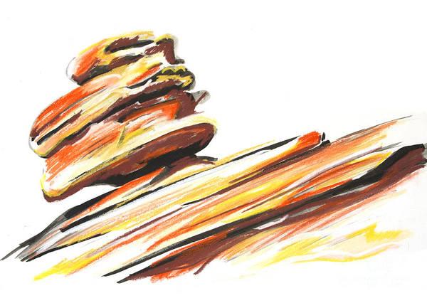 Wall Art - Drawing - Balanced Rock by Jen Callison
