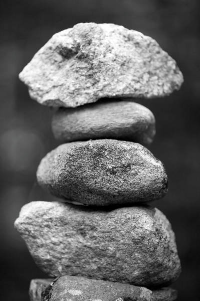 New Hampshire Photograph - Balanced Rocks, Close-up by Snap Decision