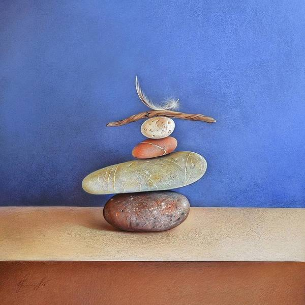 Drawing - Balancing Act by Elena Kolotusha