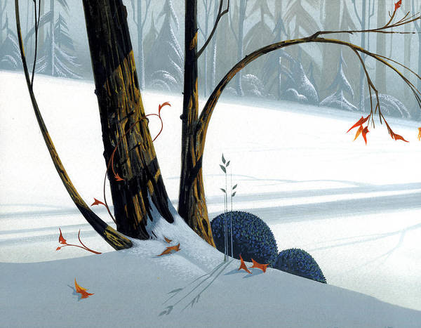 Winter Landscapes Painting - Balancing Act  by Michael Humphries