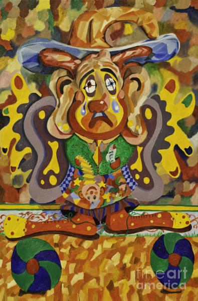 Painting - Balancing Clown by James Lavott