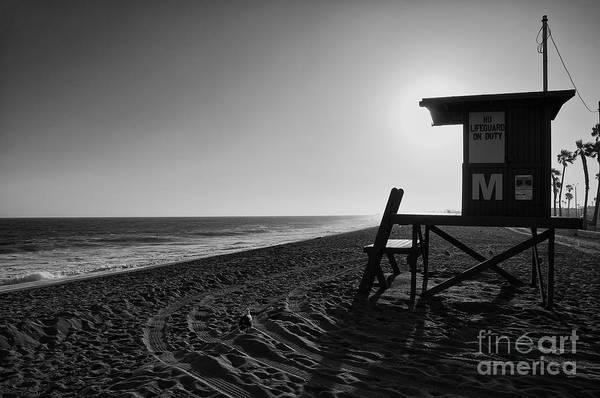 Photograph - Balboa Beach Lifeguard Station by Eddie Yerkish