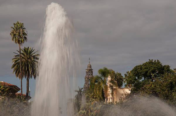 Photograph - Balboa Park Fountain And California Tower by Lee Kirchhevel