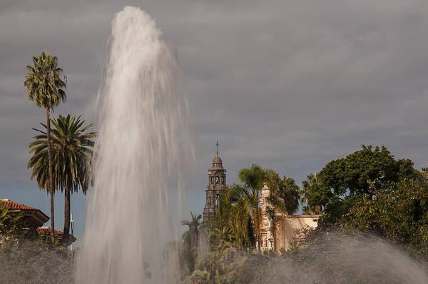 Balboa Park Fountain And California Tower Art Print
