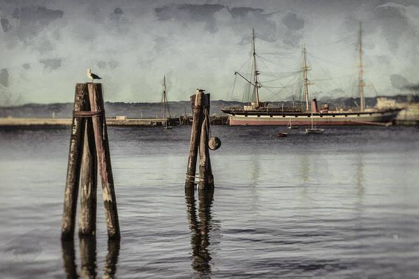 Photograph - Balclutha At Anchor 1886 by Scott Campbell