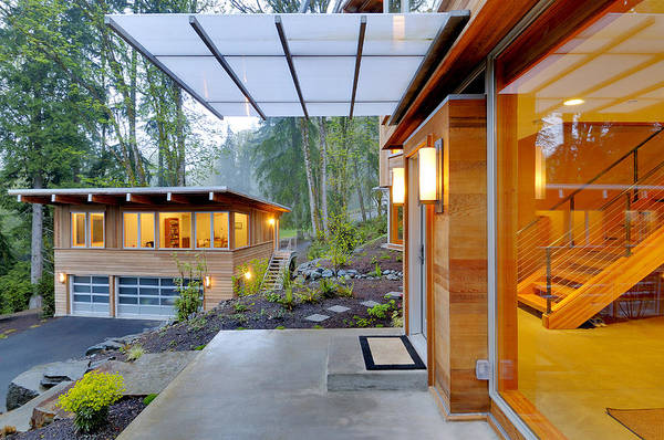 Abode Photograph - Balcony And Awning Of Modern House by Will Austin