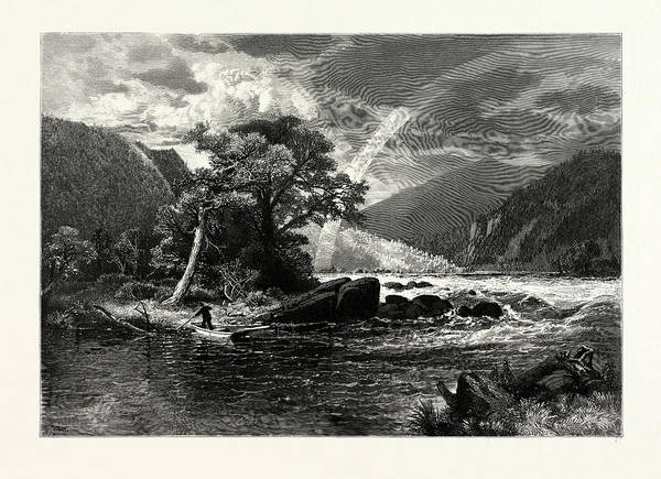 1924 Drawing - Balcony Falls, James River by J.d. Woodward, John Douglas (1846?1924), American