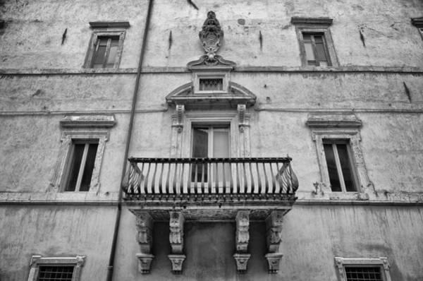 Balcony In Assisi Art Print
