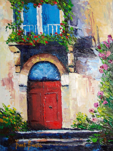 Painting - Balcony by Janet Garcia
