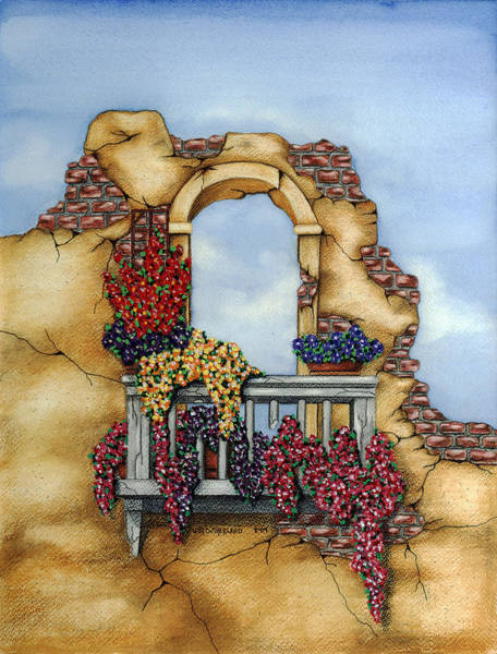 Painting - Balcony by Lori Sutherland