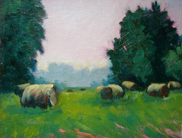 Painting - Bales In The Morning by Judy Fischer Walton