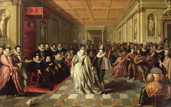 Duke University Photograph - Ball At The Court Of Henri IIi On The Occasion Of The Marriage Of Anne, Duke Of Joyeuse by French School