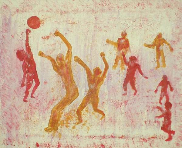 Volley Painting - Ball Game by Ed Ciolina