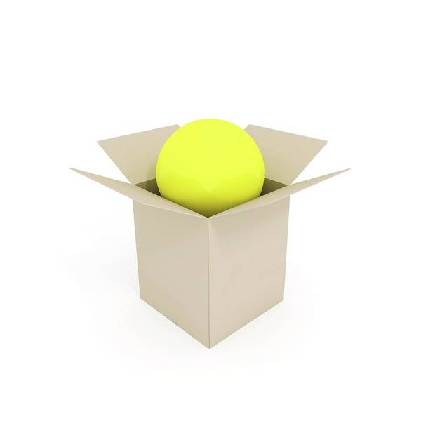 Package Wall Art - Photograph - Ball In A Box by Wladimir Bulgar/science Photo Library