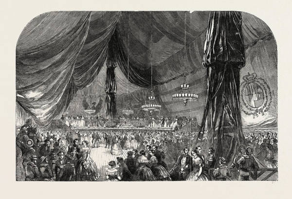 Trinidad Drawing - Ball On Board Her Majestys Ship Wellesley by Spanish School