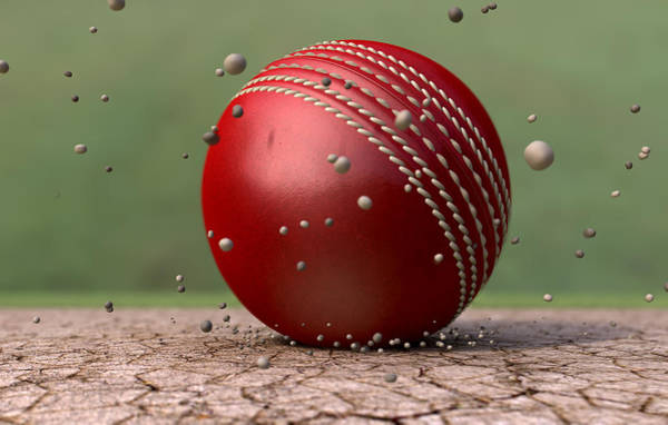 Hit Digital Art - Ball Strike by Allan Swart