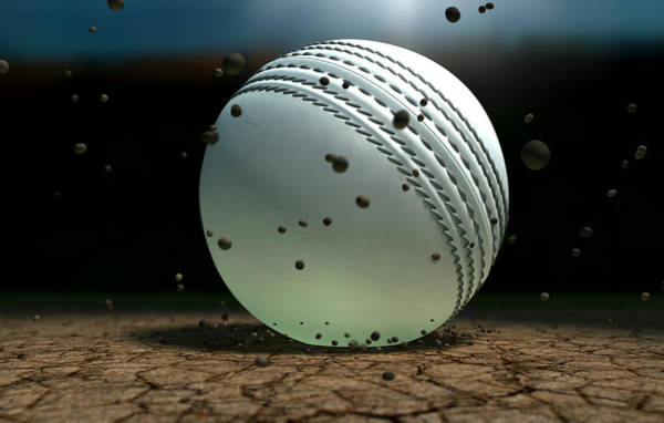 Hit Digital Art - Ball Striking Bounce by Allan Swart
