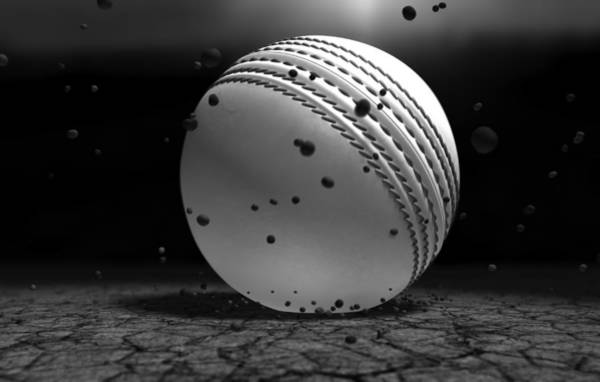 Hit Digital Art - Ball Striking Ground by Allan Swart