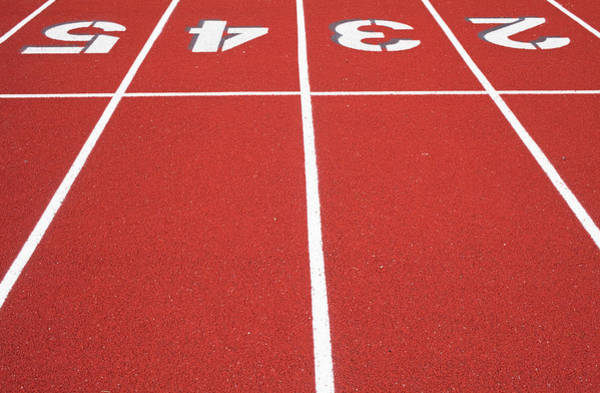 Alfresco Wall Art - Photograph - Ballard High School Track Surface by Nathan Griffith