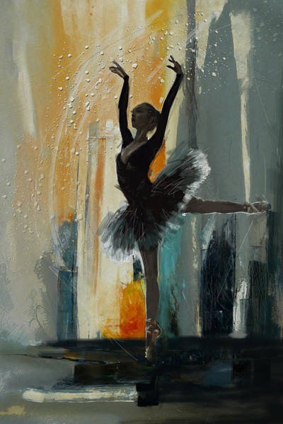 Catf Wall Art - Painting - Ballerina 17 by Mahnoor Shah