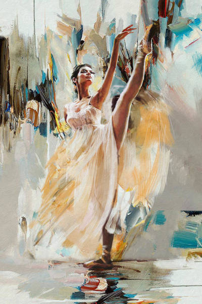 Dance Painting - Ballerina 24 by Mahnoor Shah