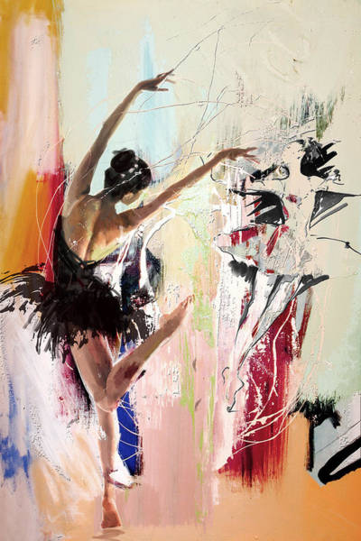Catf Wall Art - Painting - Ballerina 30 by Mahnoor Shah