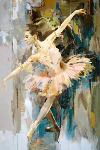 Catf Wall Art - Painting - Ballerina 31 by Mahnoor Shah