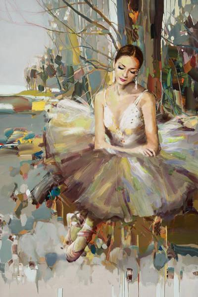 Figure Skating Painting - Ballerina 32 by Mahnoor Shah