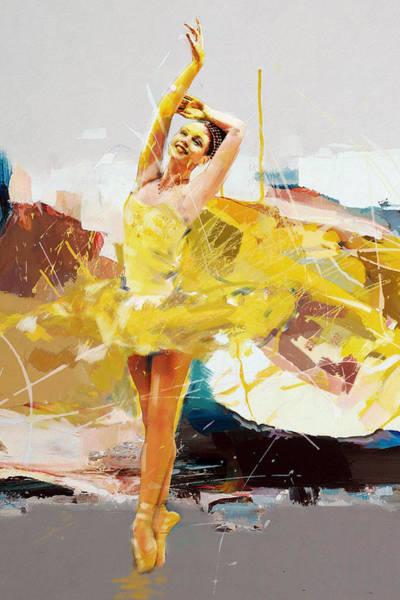 Figure Skating Painting - Ballerina 33 by Mahnoor Shah