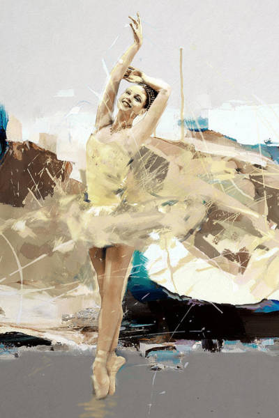 Figure Skating Painting - Ballerina 34 by Mahnoor Shah