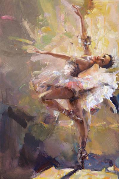 Figure Skating Painting - Ballerina 35 by Mahnoor Shah