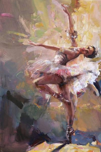 Figure Skating Painting - Ballerina 40 by Mahnoor Shah
