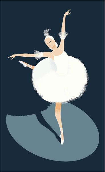 Digital Image Digital Art - Ballerina Dancing by Mcmillan Digital Art
