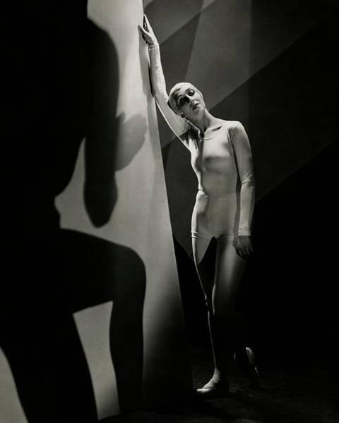Monochrome Photograph - Ballerina Felia Doubrovska by George Hoyningen-Huene