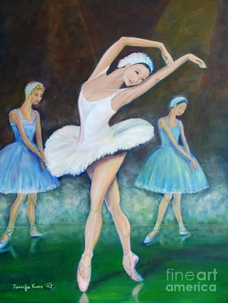 Wall Art - Painting - Ballerina In The Spot Lights by Jennifer Kwon