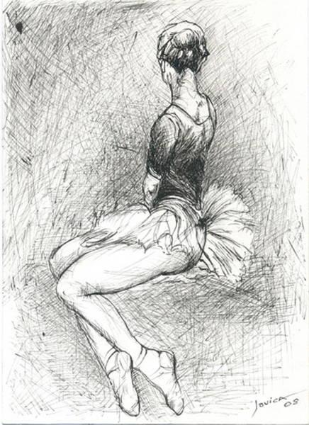 Hairdo Drawing - Ballerina by Jovica Kostic