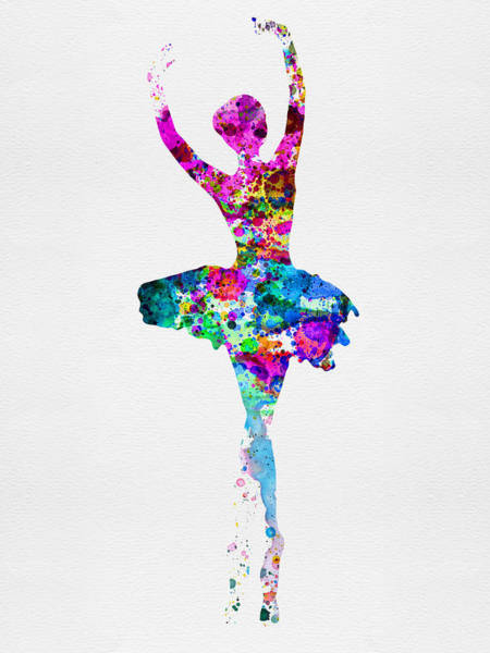 Dancing Painting - Ballerina Watercolor 1 by Naxart Studio