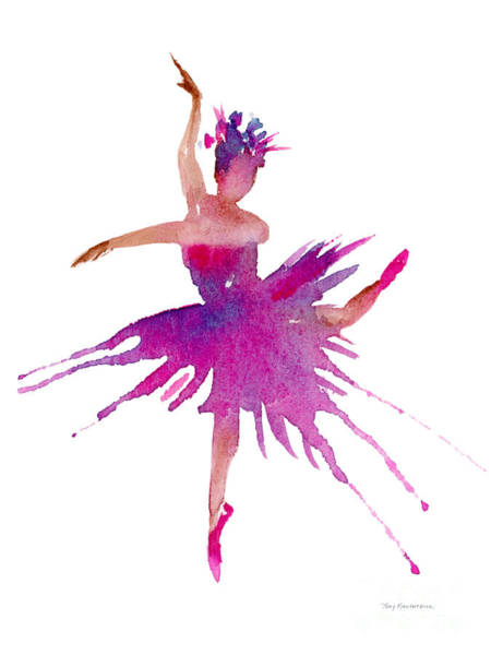 Wall Art - Painting - Ballet Arabesque by Amy Kirkpatrick