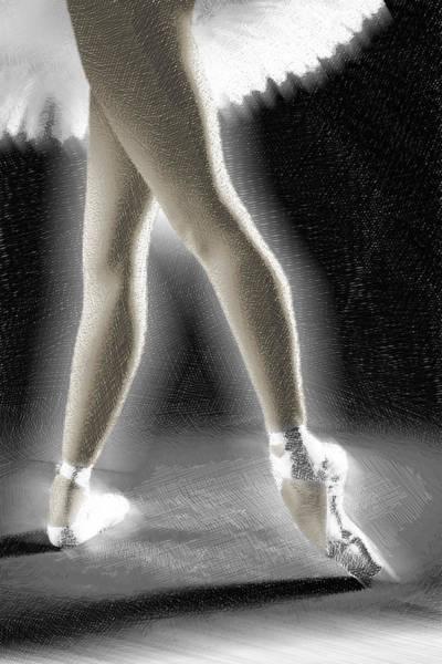 Painting - Dance Ballet Dancing Leap Gymnast by Tony Rubino