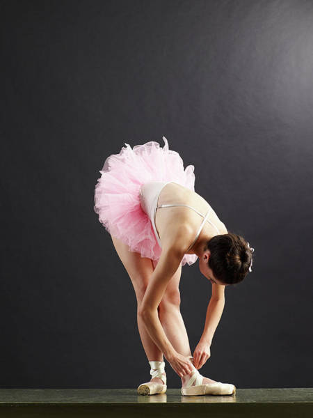 Little People Photograph - Ballet Dancer Tying Shoe by Blake Little