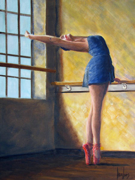 Painting - Ballet Dancer Warm Up by Kevin Hughes